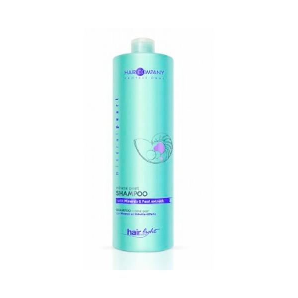 Hair Company Шампунь для волос с минералами и экстрактом жемчуга Professional Light Mineral Pearl Shampoo 1000 мл255886Великолепная сбалансированная формула с минералами и экстрактом жемчуга в составе. Питает волосы от корней до самых кончиков, придаёт им блеск и силу. Делает волосы более объёмными, сияющими и шелковистыми. Локоны легко расчёсываются. Экстракт жемчуга в составе, дарит волосам сияние и силу. Результат применения – сияющие и шелковистые волосы!