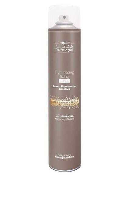 Hair Company Фиксирующий лак, придающий блеск Professional Inimitable Style Illuminating Fixing Spray 500 мл254773/LB12177 RUSФиксирующий лак HAIR COMPANY INIMITABLE STYLE Illuminating Fixing Spray Придает волосам объем и глянцевый блеск любой прическе. Содержит LUMINESCINE - придает волосам блеск и защищает их от загрязнений. Не содержит хлористый метилен.