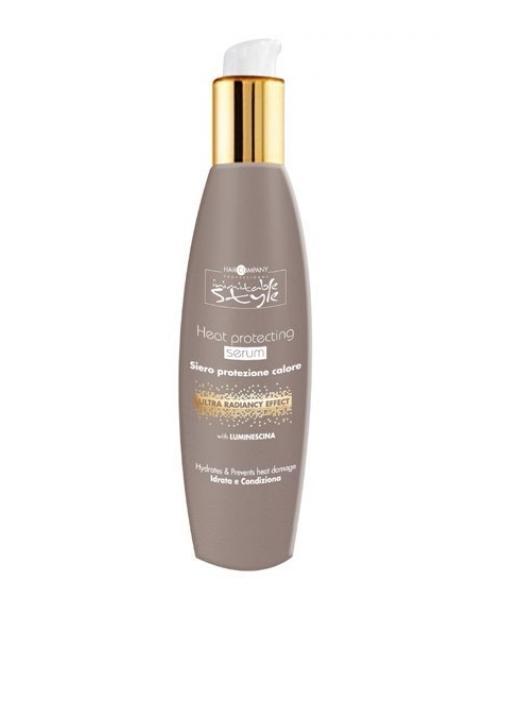 Hair Company Термозащитная сыворотка Professional Inimitable Style Heat Protecting Serum 250 млFS-00897Термозащитная сыворотка HAIR COMPANY INIMITABLE STYLE Heat Protecting Serum Защищает волосы от теплового воздействия фена и утюжка-плойки для выпрямления и завивки волос.