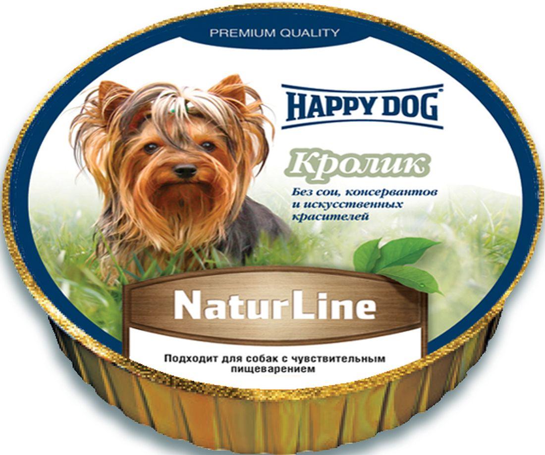 """Консервы для собак Happy Dog """"Natur"""", паштет с кроликом, 125 г 71502"""