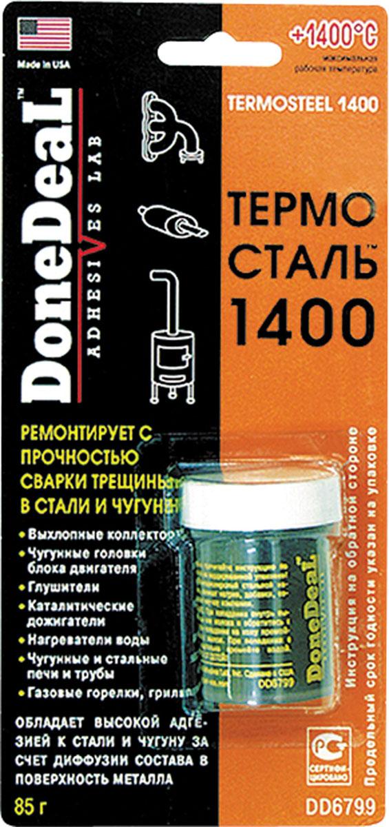 Термосталь-термостойкий (до 1400 С) сверхпрочный ремонтный герметик
