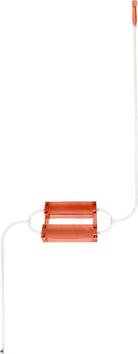 Душ портативный Восход-ЛТД Дачник, цвет: оранжевый, черный7032753_оранжевыйПереносной портативный душ Восход-ЛТД Дачник, выполненный из высококачественного пластика, ПВХ и резины, предназначен для принятия водных процедур в условиях отсутствия водопровода: на участках частных домов, дач, в деревенских банях. Душ состоит из 2-х секционного насоса с корпусом, всасывающего шланга и шланга с лейкой. Особенности: - при хранении и эксплуатации не допускается перегиба шлангов; - рекомендуется хранение душа при комнатной температуре. Размер насоса (с учетом корпуса): 43 х 7 х 7 см. Длина всасывающего шланга: 153 см. Длина шланга (без учета лейки): 198 см. Длина лейки: 17 см.