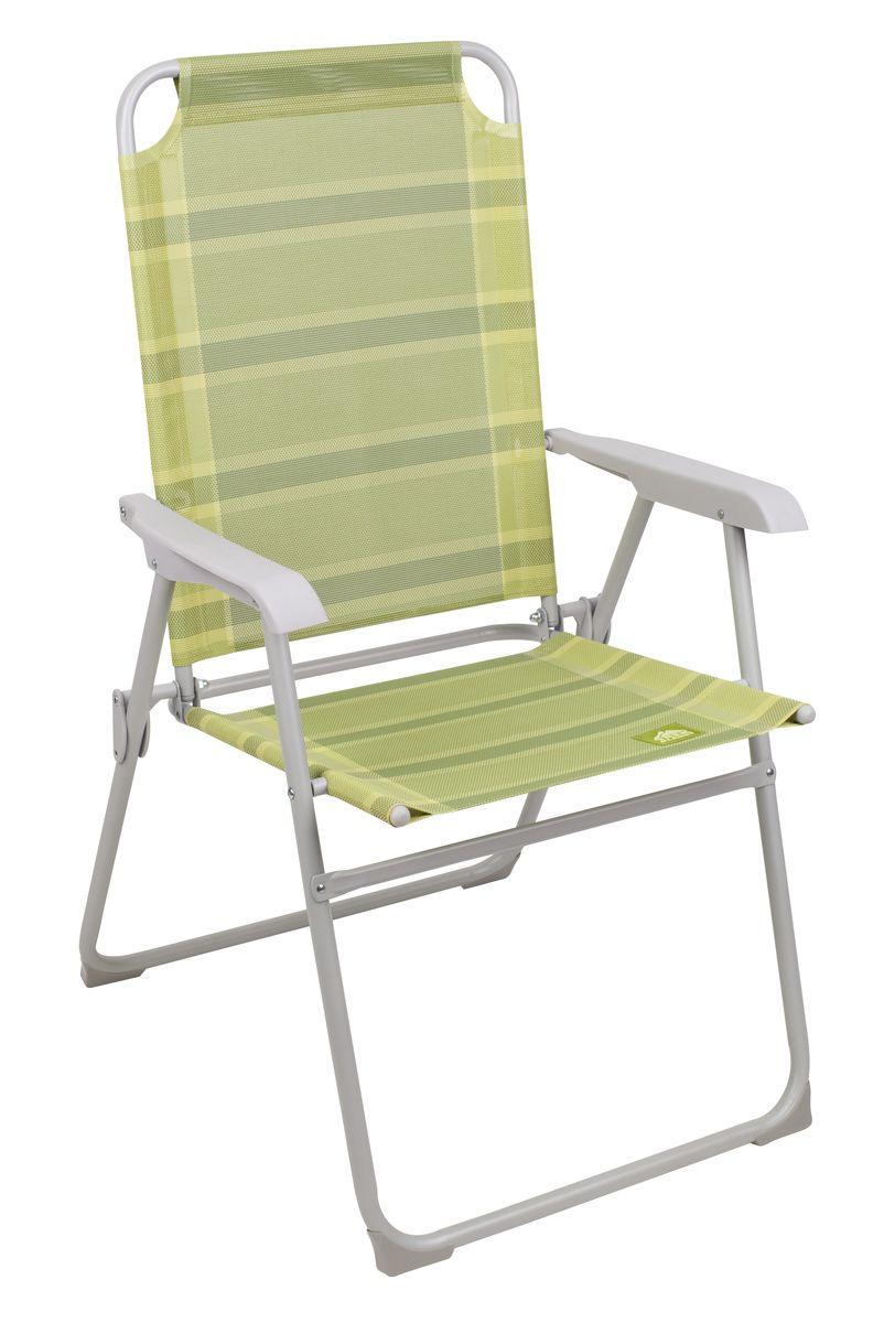 Кресло складное Trek Planet Weekend, цвет: зеленый70603Складное кресло TREK PLANET WEEKEND достаточно большого размера, с отличной поддержкой спины за счет высокой спинки. Прочный сетчатый материал сиденья TEXTILENE стойкий к ультрафиолетовому излучению и образованию плесени, быстро сохнет, не впитывает влагу и имеет хорошую пространственную стабилизацию. Кресло можно хранить на открытом воздухе весь сезон. Сиденье не имеет поперечной рамы в области ног, что обеспечивает больший комфорт. Специальная конструкция ножек препятствует проваливанию кресла в землю или песок. Кресло плоско складывается и не занимает много места. Особенности: - Специальная конструкция ножек препятствует проваливанию кресла в землю или песок. - Сиденье не имеет поперечной рамы в области ног, что обеспечивает больший комфорт. - Плоско складывается. - Очень легкое. - Прочный материал. - Защита от УФО. Материал: прочный сетчатый материал стойкий к ультрафиолетовому излучению. Рама: 22 мм/19 сталь с...