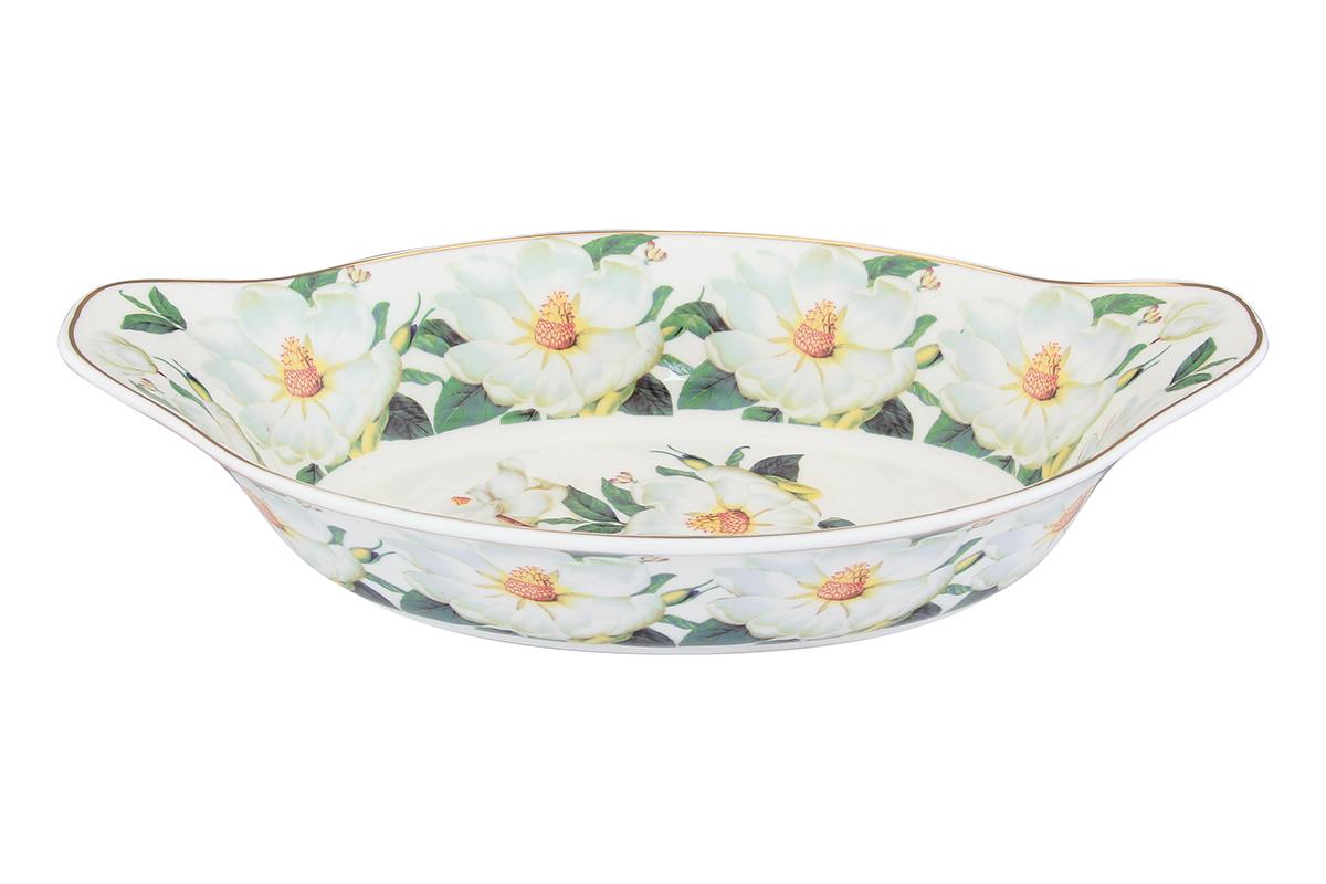 Блюдо-лодочка Elan Gallery Белый шиповник, 26 х 15,5 х 6 см504021Блюдо подходит для подачи горячего, для приготовления и хранения слоеных салатов. Изделие имеет подарочную упаковку, поэтому станет желанным подарком для ваших близких! Объем блюда: 600 мл.