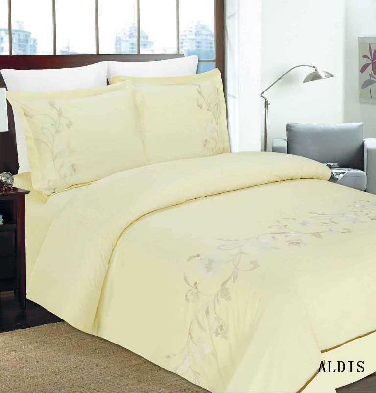 """Комплект белья Arya """"Aldis"""", 2-х спальный, наволочки 50x70, 70x70, цвет: светло-желтый F0088325"""