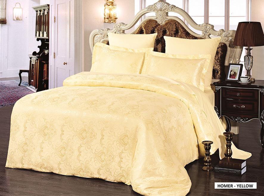 Комплект белья Arya Homer, 2-спальный, наволочки 50x70, 70x70, цвет: желтыйTR85642003Роскошный комплект постельного белья Arya Homer состоит из пододеяльника, простыни и двух наволочек, выполненных из микрофибры. Постельное белье из микрофибры - это вариант для практичных и экономных хозяек. Ткань производится из тончайших волокон, поэтому она такая мягкая и приятная на ощупь. Микрофибра не впитывает влагу, а пропускает ее через себя и выводит наружу, поэтому очень быстро сохнет. Постельное белье из микрофибры приято на ощупь и почти не электризуется. Эта ткань больше других синтетических похожа на хлопок. При правильном уходе такое белье не выцветет и не полиняет после множества стирок. Благодаря такому комплекту постельного белья вы создадите неповторимую атмосферу в вашей спальне.