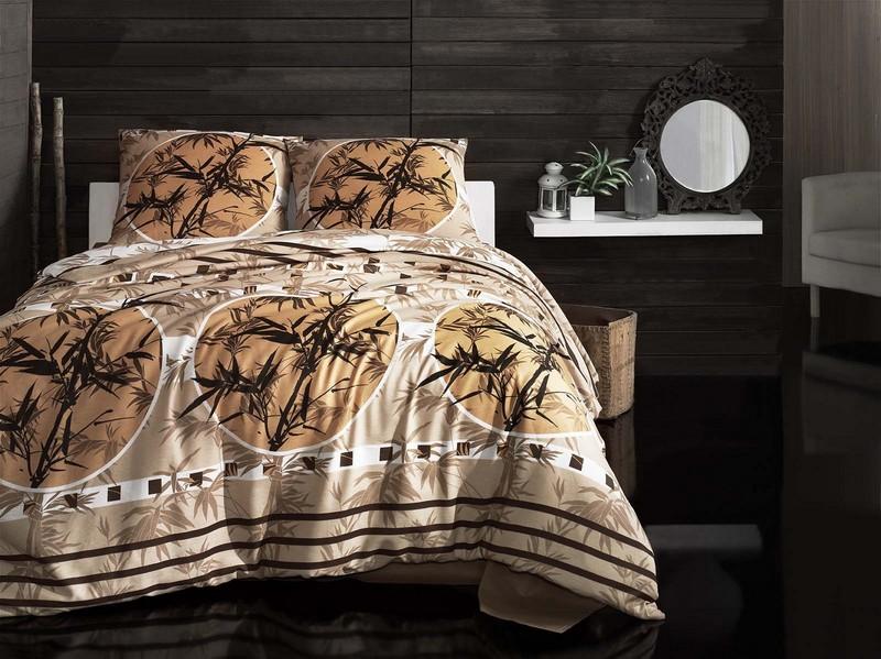 """Комплект белья Arya """"Zen"""", 1,5-спальный, наволочки 70x70, цвет: бежевый F0090682"""