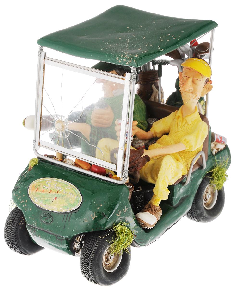 Статуэтка Gillermo Forchino Гольфкар, цвет: желтый, зеленый, высота 18 смFO85037Статуэтка Gillermo Forchino Гольфкар выполнена вручную из полирезины под контролем автора - Гиллермо Форчино. Изделие упаковано в специальную газету Forchino, имеет фирменный знак и свой уникальный номер. Также к статуэтке приложен сертификат. В комплекте брошюра с яркими иллюстрациями и биографией автора на английском и французском языках, а также 9 фотокарточек его произведений. Статуэтка Gillermo Forchino Гольфкар имеет изысканный внешний вид и станет прекрасным украшением интерьера гостиной, офиса или дома. Вы можете поставить статуэтку в любое место, где она будет удачно смотреться и радовать глаз.