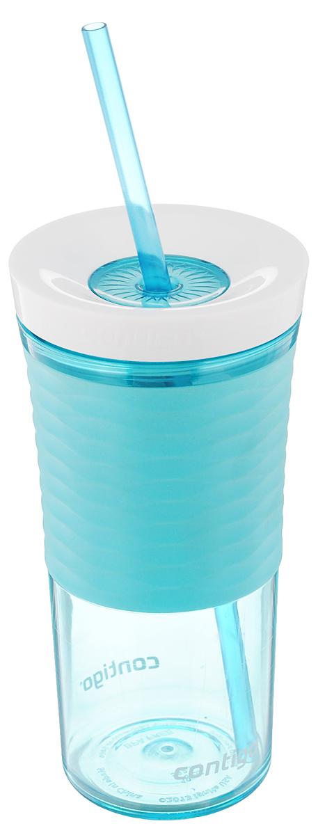 Шейкер Contigo Shake&Go, с трубочкой, цвет: бирюзовый, белый, 530 млVT-1520(SR)Шейкер Contigo Shake&Go, изготовленный из высококачественного пластика, выполнен в виде стаканчика. Закручивающаяся крышка снабжена отверстием для трубочки (входит в комплект). Шейкер предназначен для холодных напитков и идеально подходит для того, чтобы взять с собой в дорогу воду, морс, смузи, шейк, чай или кофе. Двойные стенки дольше сохраняют напиток холодным. Резиновый ободок на корпусе обеспечивает надежный хват и комфорт во время использования. Вы любитель коктейлей, но времени сходить в бар у вас нет? Не расстраивайтесь. С помощью этого шейкера вы сможете приготовить самый экзотический смешанный напиток у себя дома, чем приятно удивите гостей, родных и близких вам людей. Почувствуйте себя профессиональным барменом! Можно мыть в посудомоечной машине.Диаметр шейкера (по верхнему краю): 7,5 см.Диаметр основания шейкера: 6,5 см.Высота шейкера (с учетом крышки): 17,7 см.Длина трубочки: 25 см.
