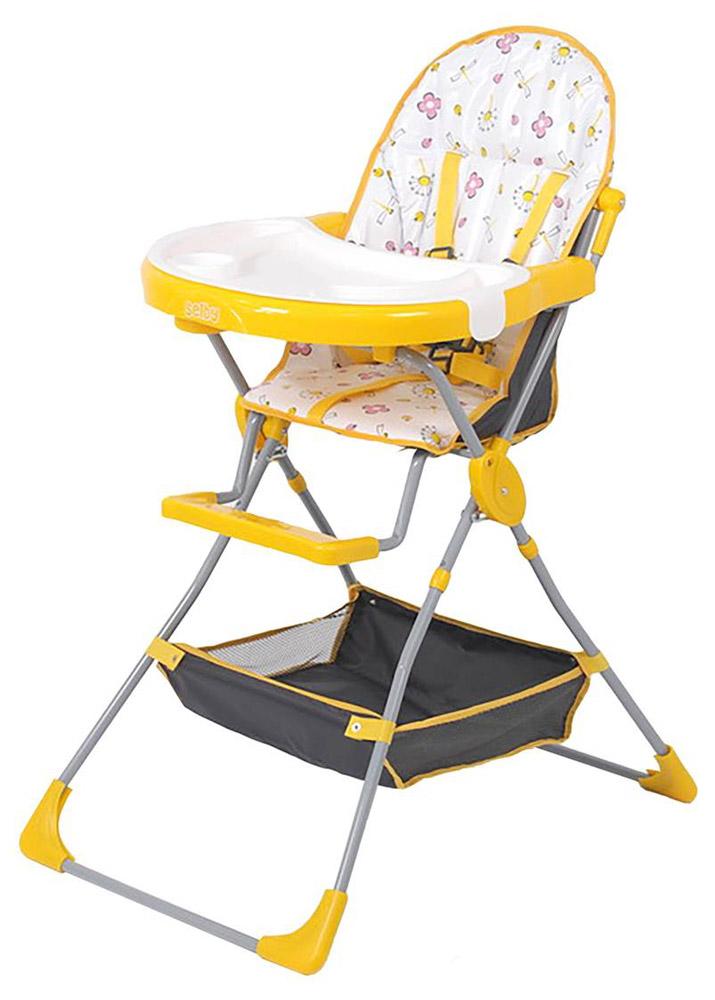 Selby Стульчик для кормления Стрекозы цвет желтый