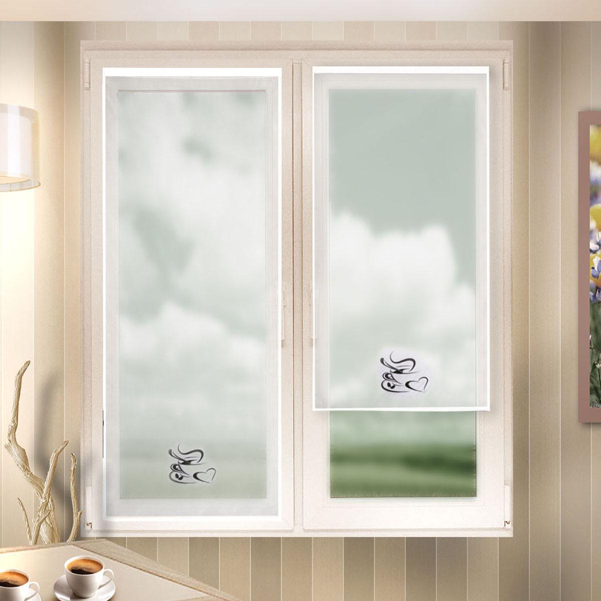 Гардина Zlata Korunka, цвет: белый, ширина 60 см, высота 140 см. 666021666021Лучшая альтернатива рулонным шторам на кухне – шторы на липкой ленте. Особенность этих штор заключается в том, что они имеют липкую основу в месте крепления . Лента или основа надежно и быстро крепится на раму окна, а на нее фиксируется сама штора. Размеры: ширина 60* высота 140