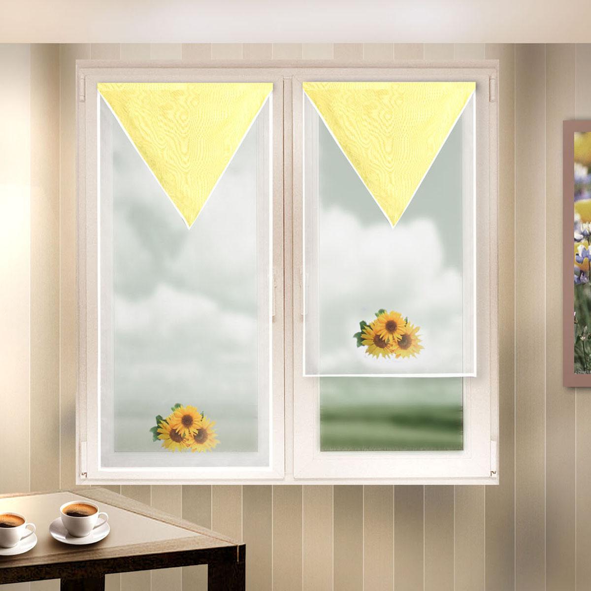 Гардина Zlata Korunka, на липкой ленте, цвет: белый, высота 120 см. 666044-12302С/60Гардина на липкой ленте Zlata Korunka, изготовленная из полиэстера, станет великолепным украшением любого окна. Полотно из белой вуали с печатным рисунком привлечет к себе внимание и органично впишется в интерьер комнаты. Крепление на липкой ленте, не требующее сверления стен и карниза. Многоразовое и мгновенное крепление.
