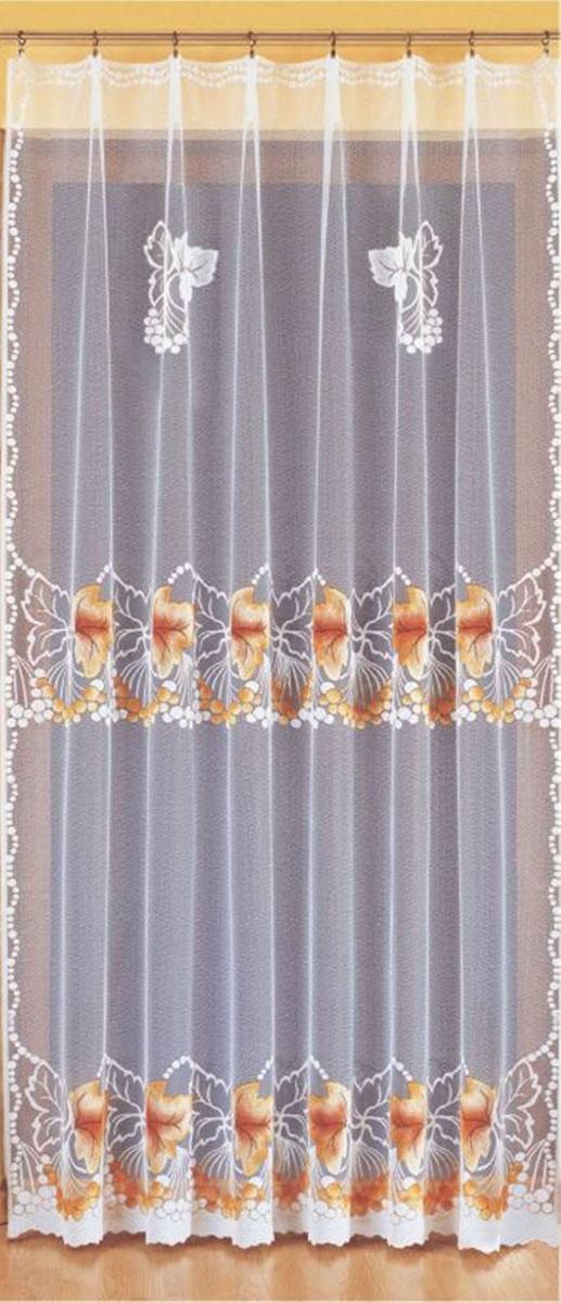 Гардина Wisan, цвет: белый, ширина 200 см, высота 250 см. 93149314вид крепления - под зажимы для штор Размеры: ш.200* в.250