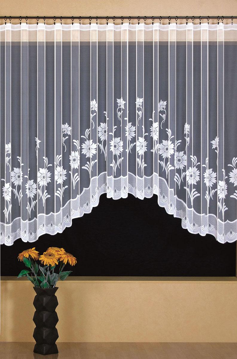 Гардина Wisan, цвет: белый, ширина 350 см, высота 170 см. 93929392вид крепления - под зажимы для штор Размеры: 350*170