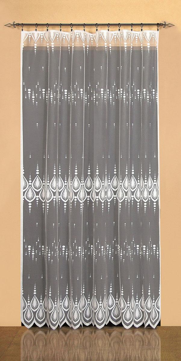 Гардина Wisan, цвет: белый, ширина 200 см, высота 250 см. 95219521вид крепления - под зажимы для штор Размеры: ш.200* в.250