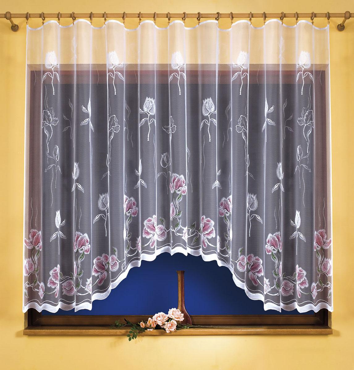 Гардина Wisan, цвет: белый, ширина 350 см, высота 180 см. 95339533вид крепления - под зажимы для штор Размеры: 350*180