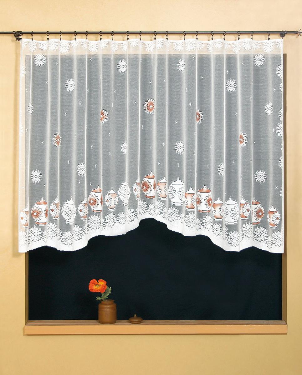 Гардина Wisan, цвет: белый, ширина 300 см, высота 150 см. 95549554Гардина жаккардовая, крепление зажимы для штор. Размеры: ширина 300*высота 150
