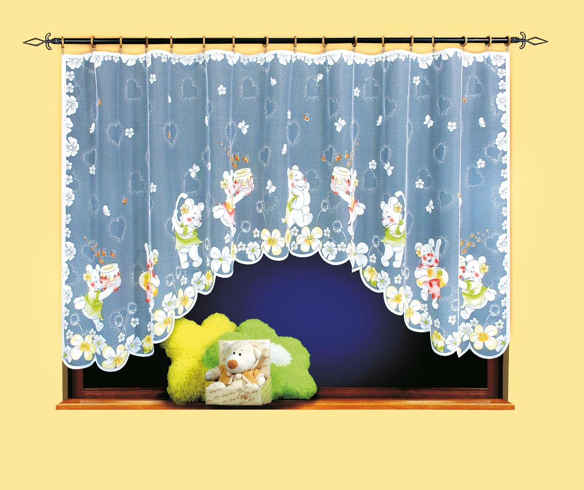 Гардина Wisan, цвет: белый, ширина 300 см, высота 150 см. 960210503вид крепления - под зажимы для шторРазмеры: ширина 300*высота 150