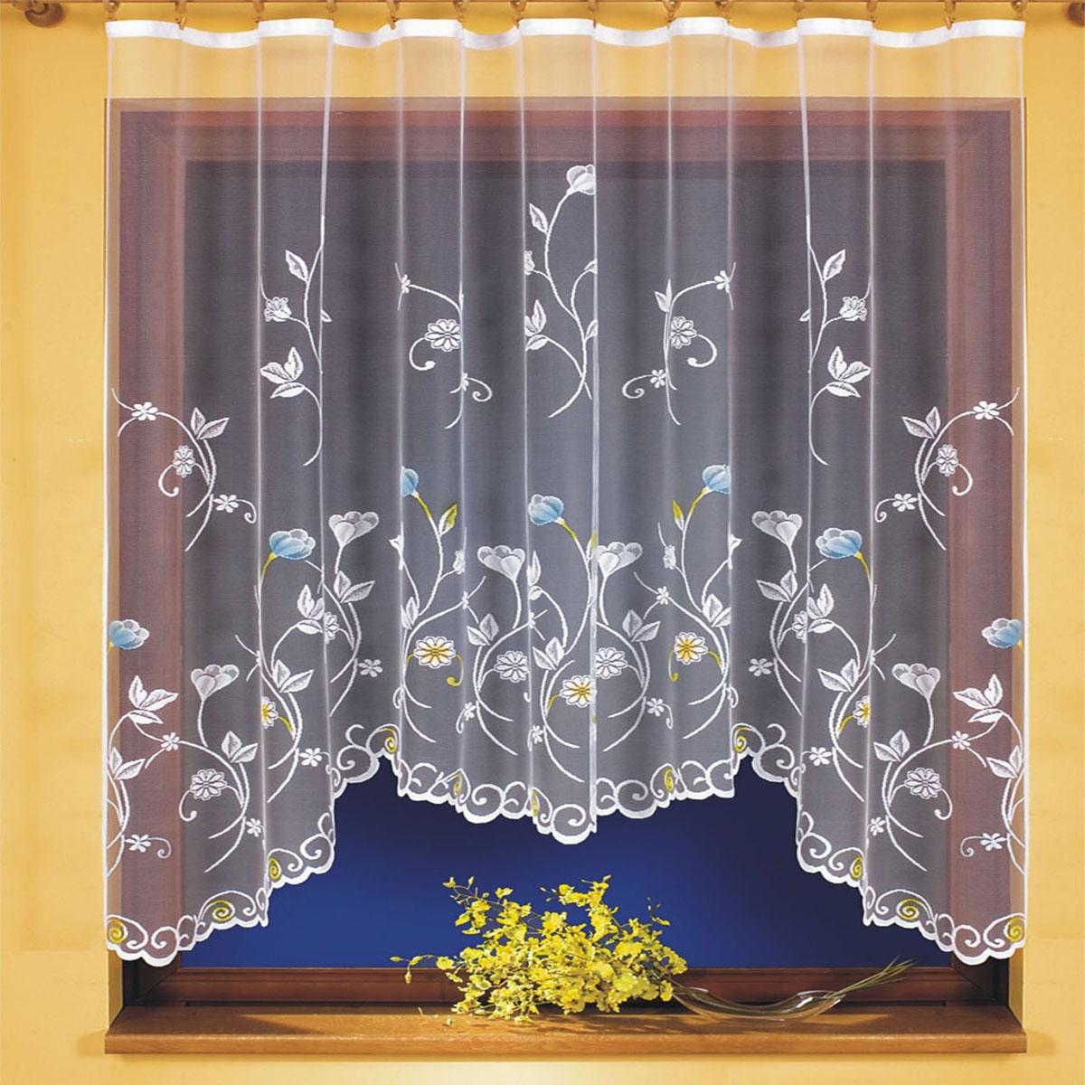 Гардина Wisan, цвет: белый, ширина 220 см, высота 160 см. 96989698вид крепления - под зажимы для штор Размеры: 220*160