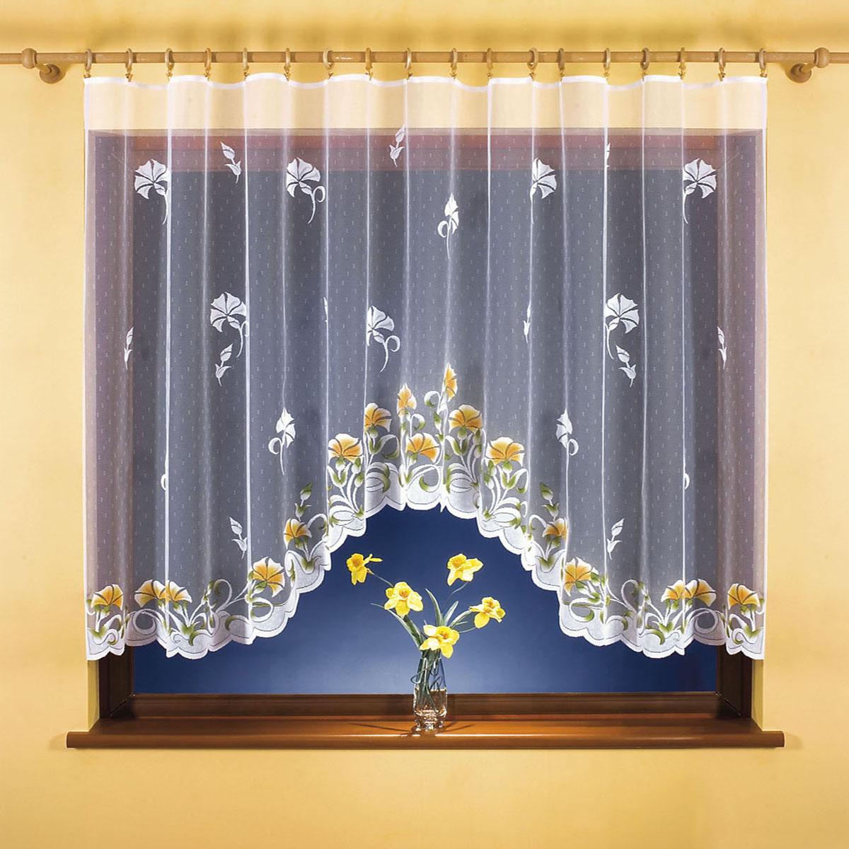 Гардина Wisan, цвет: белый, ширина 300 см, высота 150 см. 9814S03301004вид крепления - под зажимы для шторРазмеры: ширина 300*высота 150