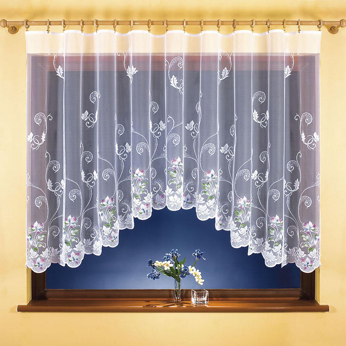 Гардина Wisan, цвет: белый, ширина 300 см, высота 150 см. 98329832вид крепления - под зажимы для штор Размеры: ширина 300*высота 150