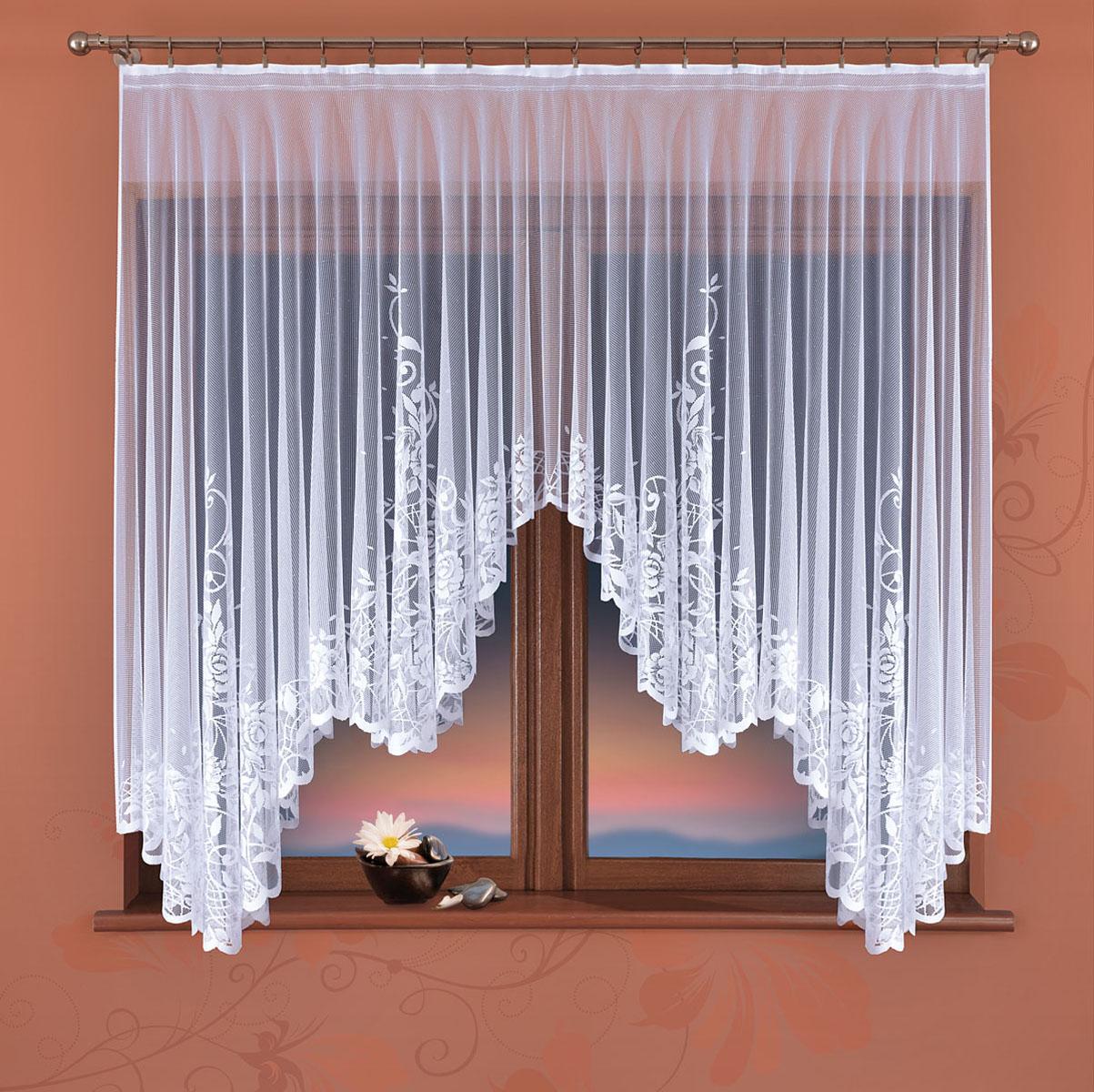 Гардина Wisan, цвет: белый, ширина 170 см, высота 160 см10503Гардина жаккардовая, крепление зажимы для штор.Размеры: 170*высота 160