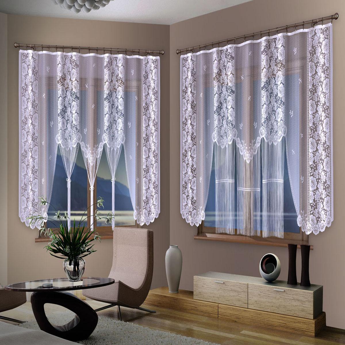 Гардина Wisan, цвет: белый, ширина 250 см, высота 170 см453ЕГардина жаккардовая, крепление зажимы для штор. Размеры: ширина 250*высота 170