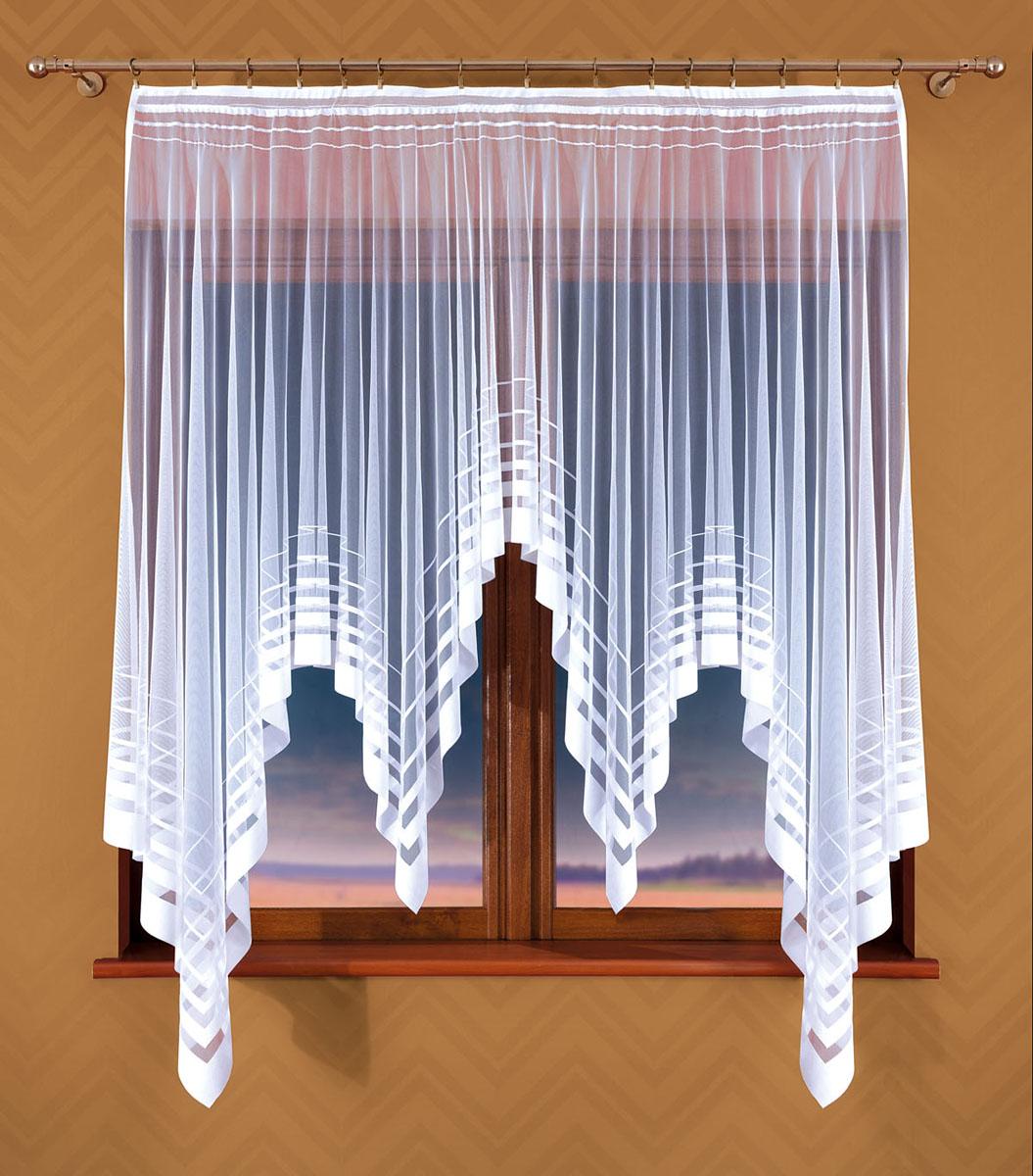 Гардина Wisan, цвет: белый, ширина 170 см, высота 170 см359ЕГардина жаккардовая, крепление зажимы для штор. Размеры: ширина 170*170