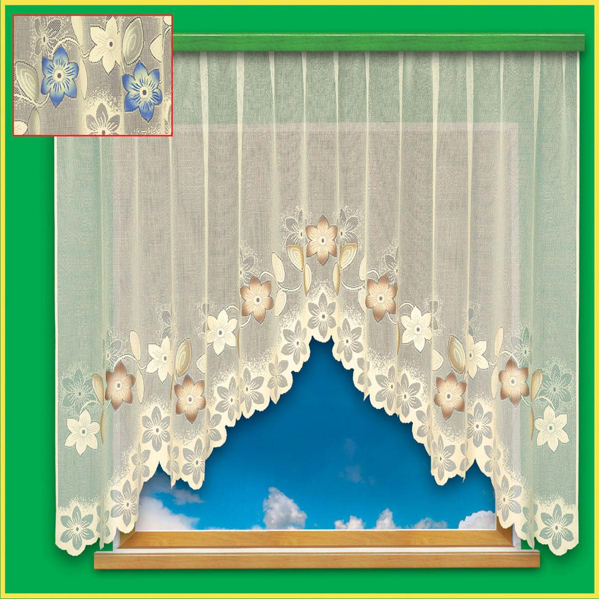 Гардина Haft, цвет: бежевый, ширина 300 см, высота 180 см28090/180 бежевыйКремовая гардина из жаккардовой ткани с бежевым рисунком цветов, высотой 180 см Размеры: высота 180см * ширина 300см