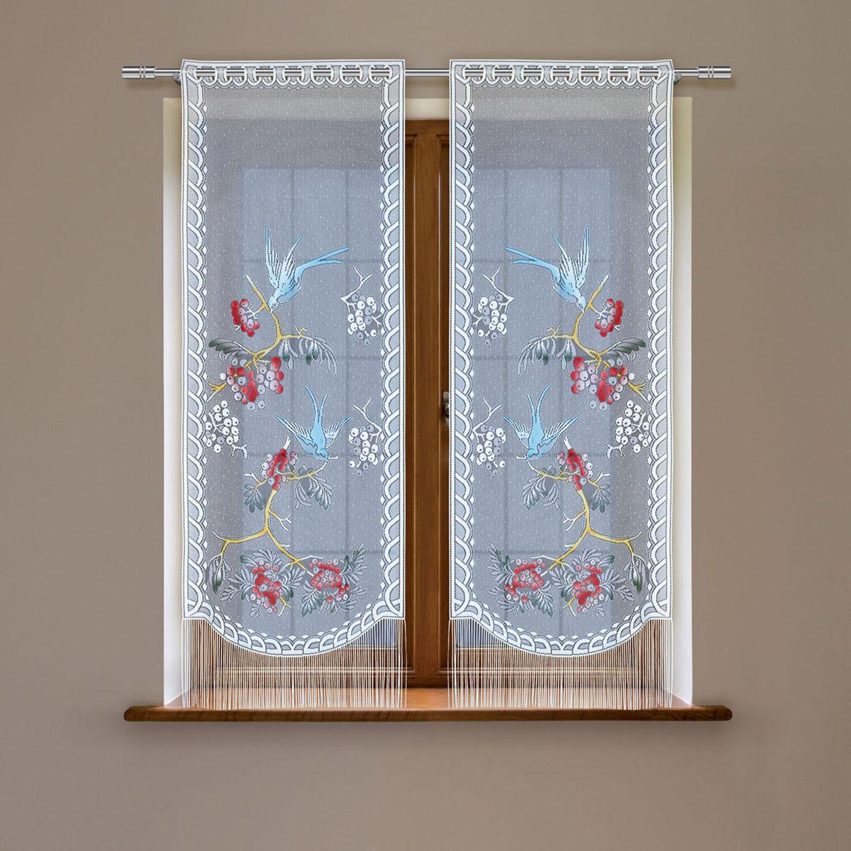 Комплект гардин Haft, на петлях, цвет: белый, высота 160 см, 2 шт. 5383С5383С/60Воздушные гардины Haft великолепно украсят любое окно. Комплект состоит из двух гардин, выполненных из полиэстера. Изделие имеет оригинальный дизайн и органично впишется в интерьер помещения. Комплект крепится на карниз при помощи петель.