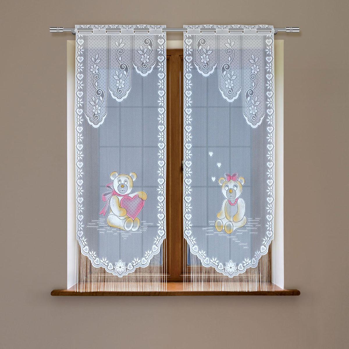 Гардина Haft, цвет: белый, высота 120 см. 8148D/608148D/60Гардина имеет в верхней части полотна прорези, через которые гардина-витраж вывешивается на карниз или можно крепить на зажим для штор,котрый в комплект не входит.Комплект состоит из двух полотен (выс.120* шир.60) Размеры: (высота 120* ширина 60)*2