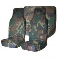 Комплект грязезащитных чехлов на передние и заднее сиденья Tplus, с мешком для хранения, цвет: нато, 3 штT001271Материал: оксфорд; Цвет: нато; Наличие кармана на тыльной стороне: да; Количество чехлов: 3 шт.; Мешок для хранения: 1 шт.