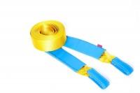 Динамический строп Tplus Стандарт, рывковый, 6 т, 6 мT001650Нагрузка на разрыв, не менее: 6 т; Длина: 6 м; Ширина ленты: 70 мм; Материал ленты: полиамид; Защита петель: экокожа; Защита швов: экокожа; Эластичность (удлинение при нагрузке): 20%; Применяется для а/м массой* до 1700 кг *снар. масса + 100 кг
