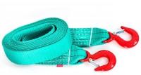 Буксировочный ремень Tplus, крюк/крюк, 4/6 т (авто до 3 т), 4,5 мT001935Рабочая нагрузка: 6 т; Разрывная нагрузка 9 т; Длина: 5 м; Ширина ленты: 60 мм; Материал ленты: полиэстер; Исполнение: крюк/крюк
