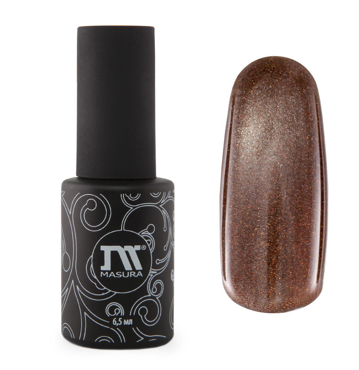 Masura Гель-лак Шапка Мономаха, 6,5 мл295-02золотисто-коричневый с зеркальным переливом, с золотыми микроблестками, плотный