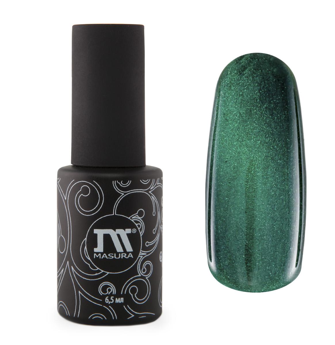 Masura Гель-лак Камея Императрицы, 6,5 мл295-04изумрудно-зеленый с холодным подтоном, с зеркальным переливом, плотный