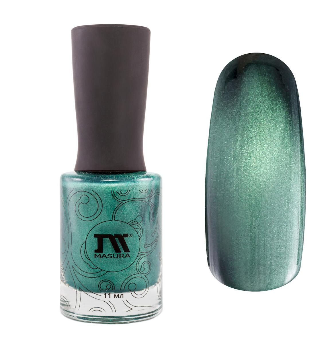 Masura Лак для ногтей Кошачий глаз, 11 мл1301210изумрудно-зеленый