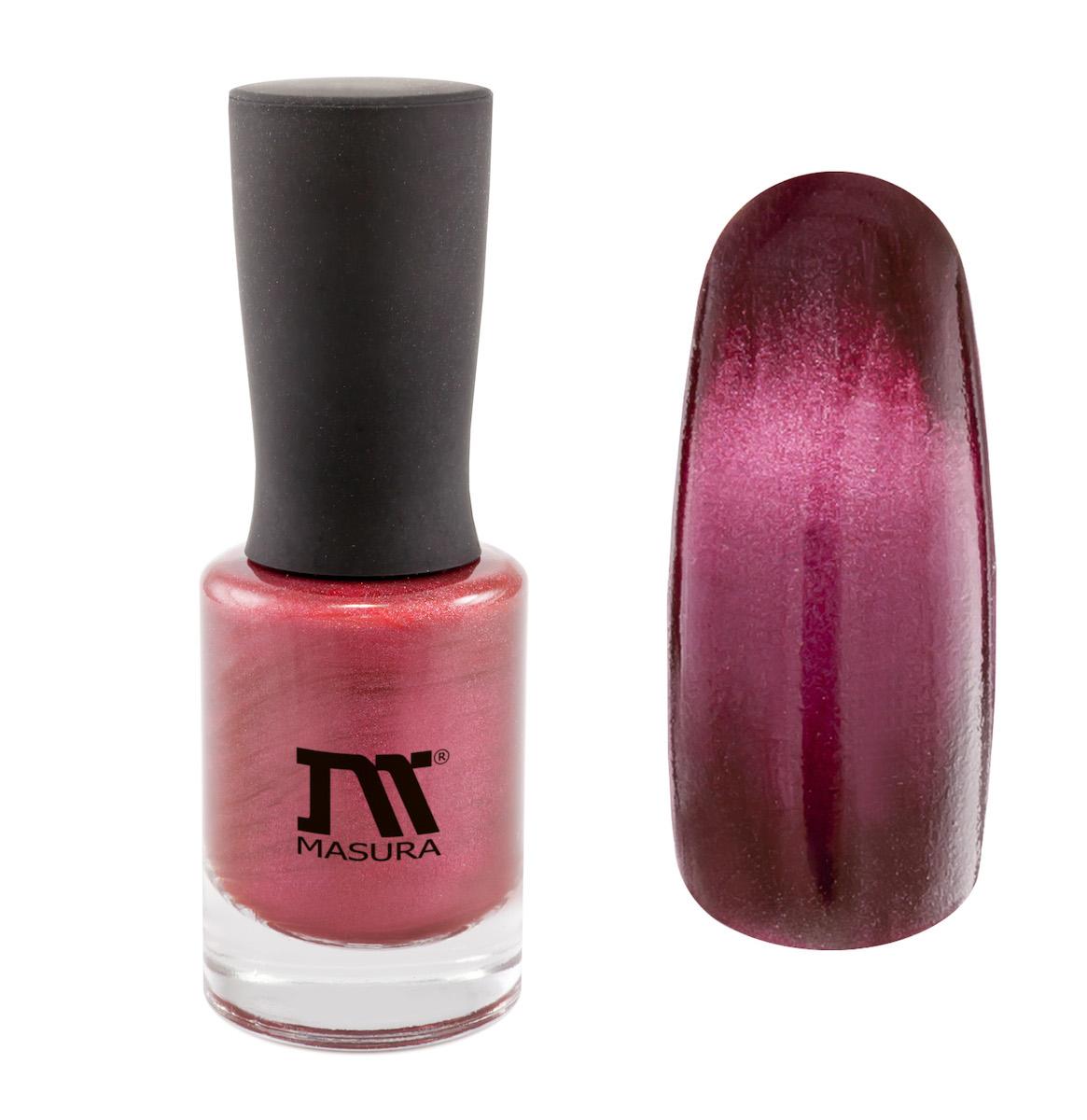 Masura Лак для ногтей Родонит Успеха, 11 мл904-170глубокий вишневый, с розовым подтоном, плотный