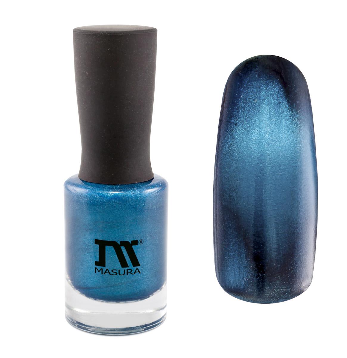 Masura Лак для ногтей Горный Азурит, 11 мл904-171насыщенный глубокий синий, с голубым подтоном, плотный