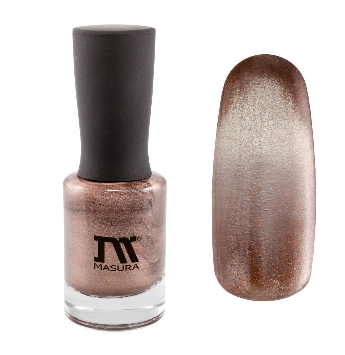Masura Лак для ногтей Дымчатый Раухтопаз, 11 мл904-173светло-коричневый, с серебристым подтоном, с золотыми микроблестками, плотный