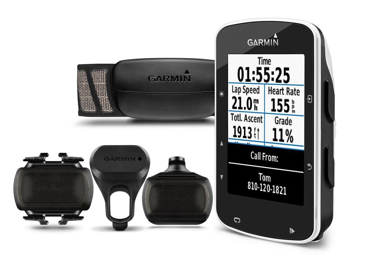 Велокомпьютер Garmin Edge 520 HRM+CAD. 010-01369-00010-01369-00Edge 520 – велокомпьютер с GPS-приемником, который отлично подходит для любителей соревнований и включает все необходимые функции. -Задания с сегментами Strava в режиме реального времени -Выдает значения VO2 max для велоспорта и время восстановления при использовании с измерителем мощности и пульсометром -Сопряжение с совместимыми тренажерами ANT+® в закрытых помещениях для отображения данных и управления -Отслеживает функциональную пороговую мощность (FTP), ватты/кг и данные велосипедной динамики при использовании с измерителем мощности Vector или Vector 2 -Подключаемые функции?: автоматическая загрузка данных, «живое слежение», оповещения от смартфона, прием/ передача дистанций, публикации в социальных сетях, прогнозы погоды -цветной сенсорный дисплей -разрешение 200x265 пикс. -количество путевых точек - 200 -ПО: Garmin -водонепроницаемый корпус -питание от аккумулятора -работа от прикуривателя -совместимость с велосипедным радаром и фарами Varia, совместимость с...
