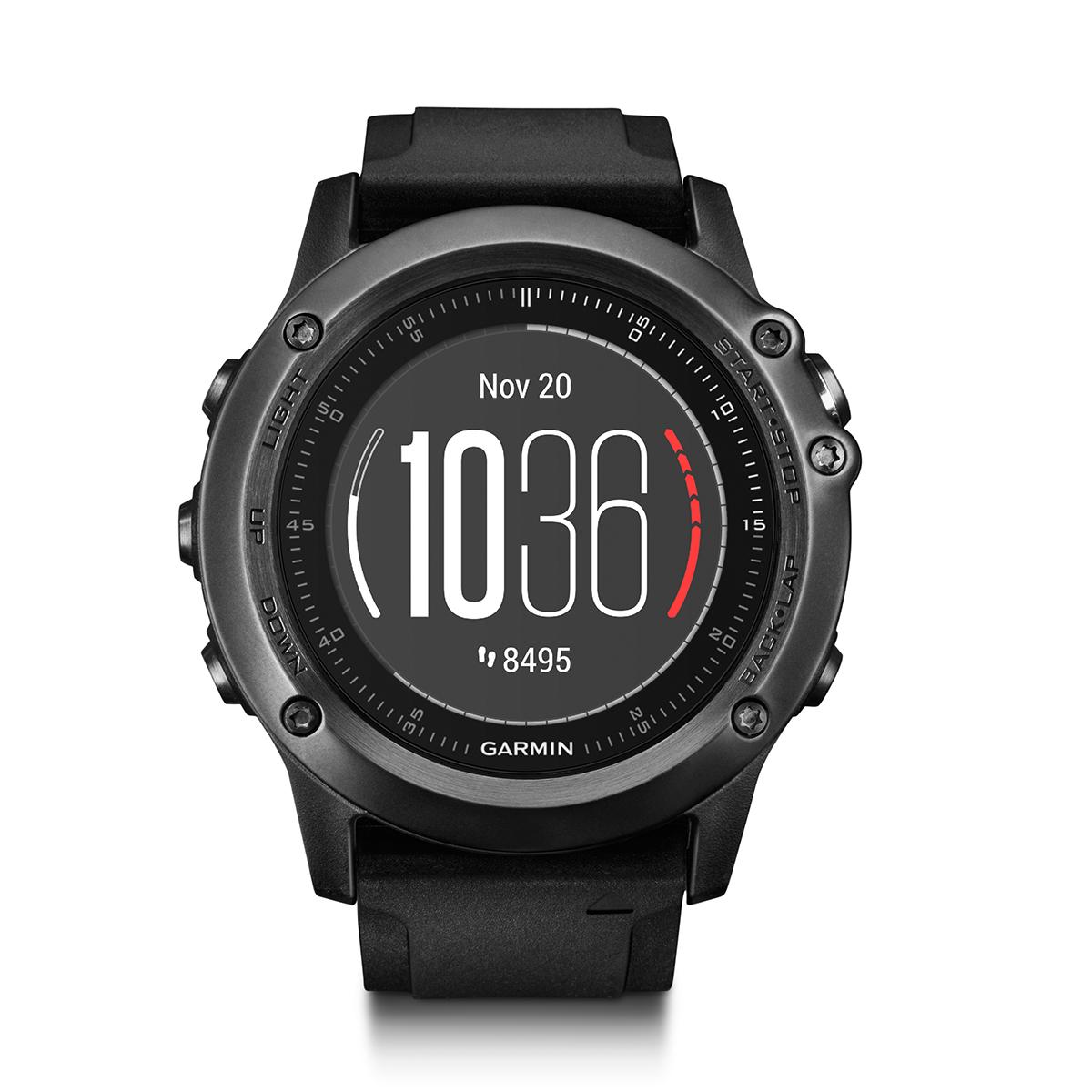 """Умные часы Garmin """"Fenix 3 Sapphire HR"""", цвет: черный, серый. 010-01338-71"""