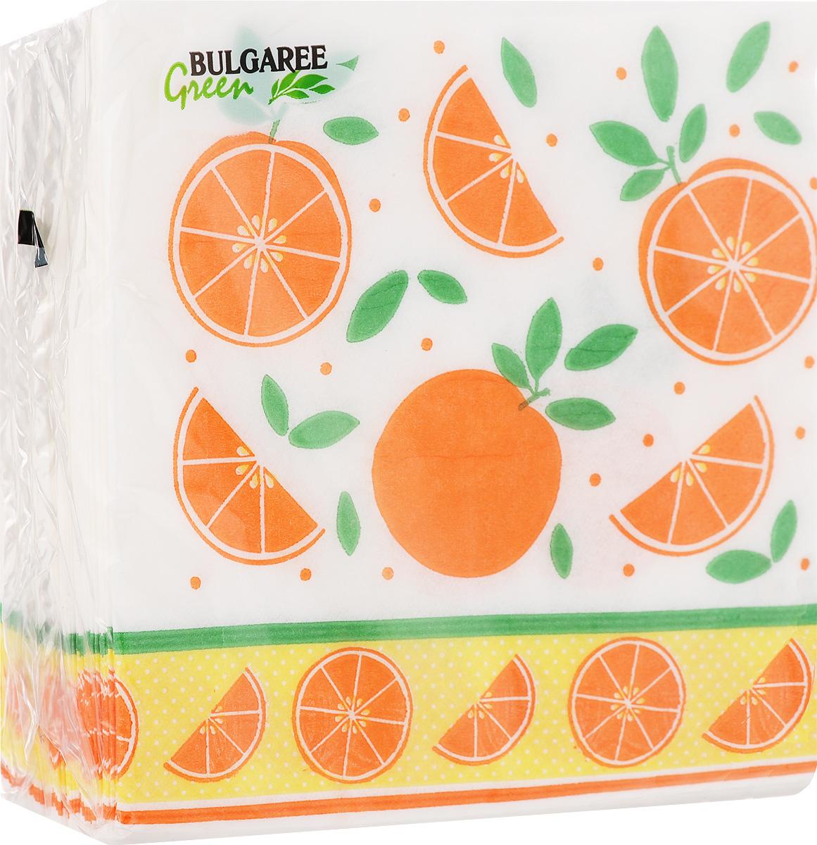 Салфетки бумажные Bulgaree Green Апельсины, однослойные, 24 х 24 см, 100 шт101620_АпельсиныДекоративные однослойные салфетки Bulgaree Green Апельсины выполнены из 100% целлюлозы европейского качества и оформлены ярким рисунком. Изделия станут отличным дополнением любого праздничного стола. Они отличаются необычной мягкостью, прочностью и оригинальностью. Размер салфеток в развернутом виде: 24 х 24 см.