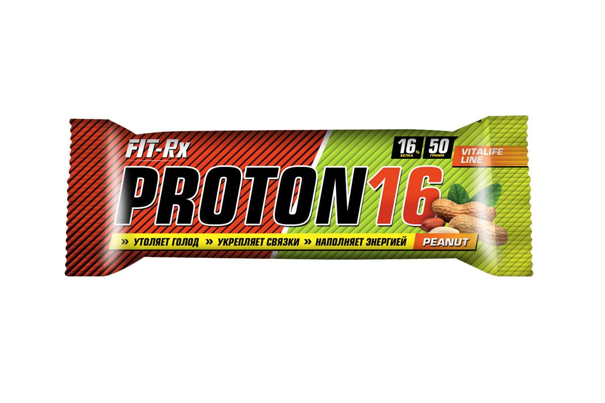 """Батончик FIT-RX """"Протон 16. Арахис"""", 24 шт x 50 г 00914"""