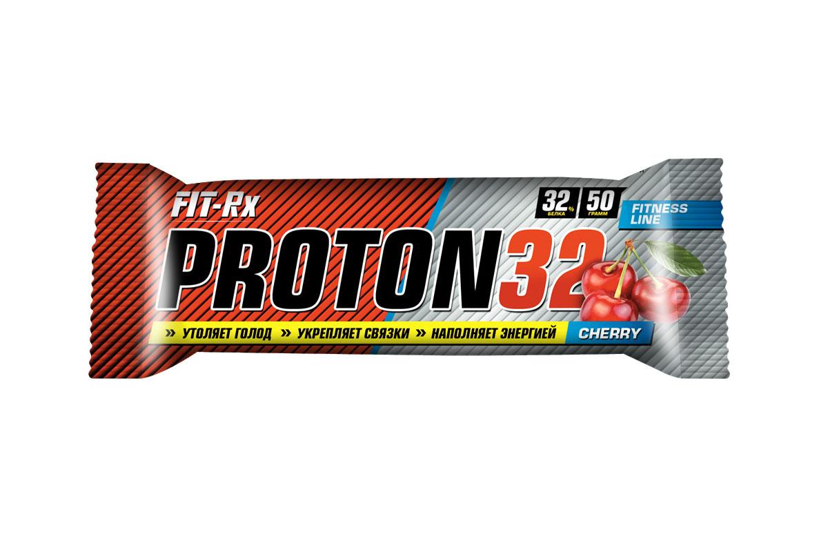 Батончик FIT-RX Протон 32. Вишня, 24 шт x 50 г00916Протеиновые батончики PROTON 32 - незаменимая составляющая сбалансированного питания Протеиновые батончики PROTON 32 с повышенным содержанием высокоценного молочного белка - незаменимая составляющая правильного и сбалансированного питания, как профессионального спортсмена, так и любителя, которому необходимо сделать полезный и быстрый перекус. В батончиках содержится множество ценных для организма человека легкоусвояемых аминокислот, белков, минералов, витаминов, простых и сложных углеводов. Коллаген, входящий в состав продукта, укрепляет связки и суставы, улучшает качество кожи и волос. - Утоляют голод - Укрепляют связки - Наполняют энергией - Усиливают иммунитет - Обладают превосходным вкусом - Помогают наращивать мышечную массу - Ускоряют пост тренировочное восстановление Характеристики: Объем 50 г Вкус Вишня Витамины C, E, B1, B2, B6, B12, биотин, ниацин, фолиевая кислота, пантотеновая кислота В одной порции (1 батончик = 50 г)...