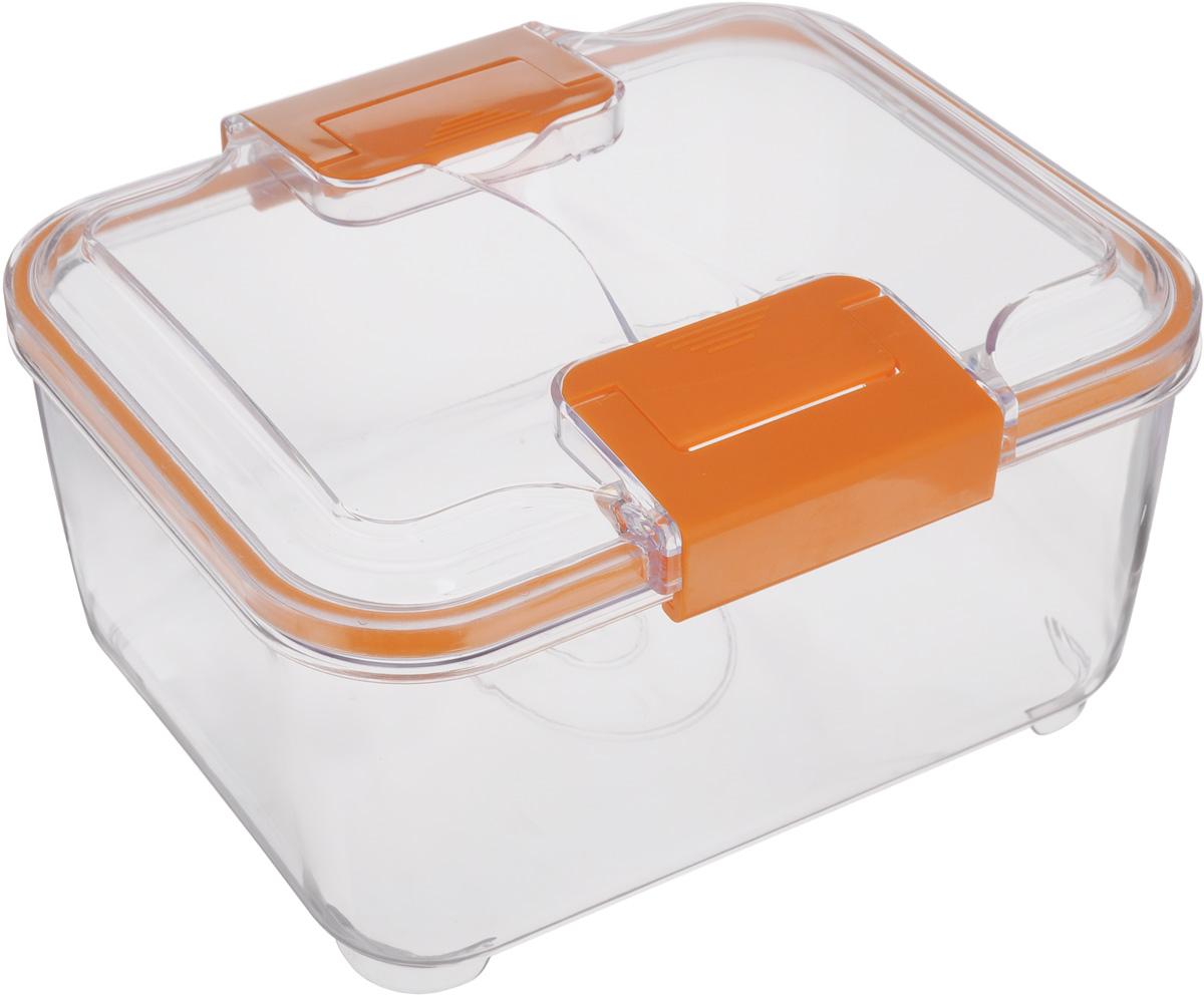 Контейнер Status, цвет: прозрачный, оранжевый, 2 лRC20 OrangeПищевой контейнер Status изготовлен из высококачественного пищевого пластика. Контейнер безопасен для здоровья, не содержит BPA. Изделие имеет прямоугольную форму и оснащено плотно закрывающейся крышкой. Прозрачные стенки позволяют видеть содержимое. Контейнер закрывается при помощи двух защелок. Можно мыть в посудомоечной машине. Контейнер подходит для использования в морозильной камере и СВЧ.