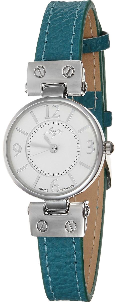 Часы наручные женские Луч Современная, цвет: серебряный, бирюзовый, белый. 729107268729107268Элегантные женские часы Луч Современная изготовлены из нержавеющей стали и минерального стекла. Циферблат часов оформлен символикой бренда. Корпус часов имеет степень влагозащиты равную 3 Bar, оснащен кварцевым механизмом Miyota, а также дополнен устойчивым к царапинам минеральным стеклом. Ремешок часов выполнен из натуральной кожи. Практичная пряжка, дополняющая ремешок, позволит с легкостью снимать и надевать часы. Часы поставляются в фирменной упаковке. Часы Луч Современная подчеркнут изящность женской руки и отменное чувство стиля у их обладательницы.