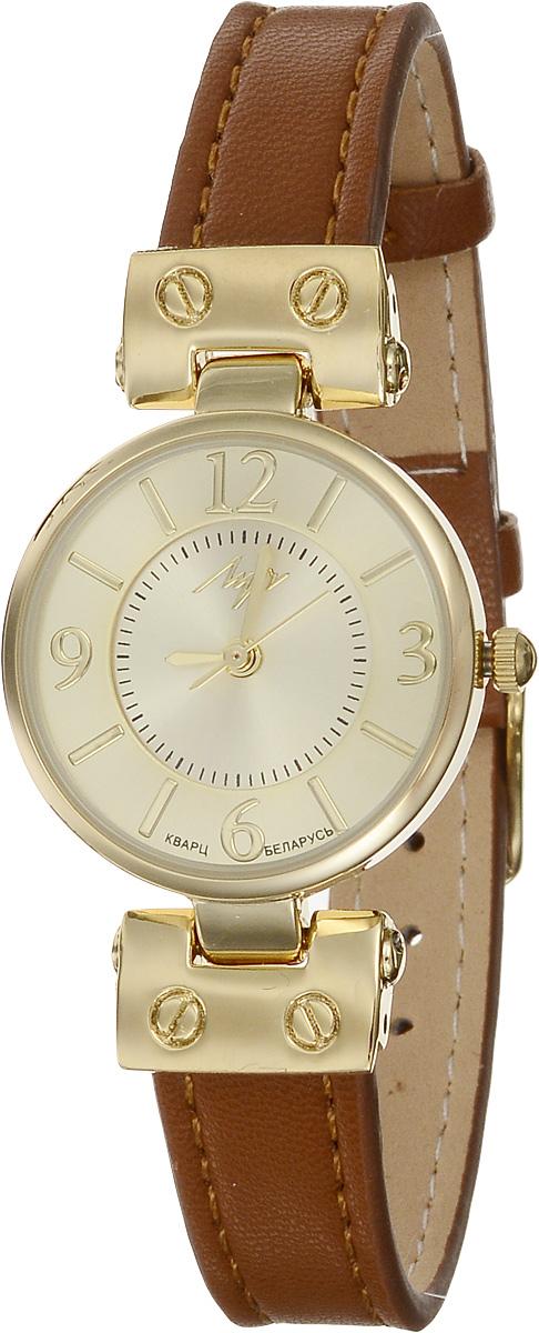 Часы наручные женские Луч Современная, цвет: золотой, коричневый. 729107269INT-06501Элегантные женские часы Луч Современная изготовлены из нержавеющей стали и минерального стекла. Циферблат часов оформлен символикой бренда.Корпус часов имеет степень влагозащиты равную 3 Bar, оснащен кварцевым механизмом Miyota, а также дополнен устойчивым к царапинам минеральным стеклом. Ремешок часов выполнен из натуральной кожи. Практичная пряжка, дополняющая ремешок, позволит с легкостью снимать и надевать часы.Часы поставляются в фирменной упаковке.Часы Луч Современная подчеркнут изящность женской руки и отменное чувство стиля у их обладательницы.