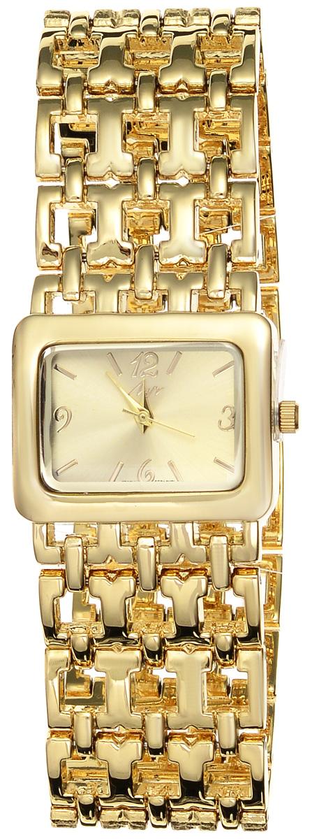 Часы наручные женские Луч Современная, цвет: золотой. 729107270729107270Элегантные женские часы Луч Современная изготовлены из металлического сплава, нержавеющей стали и минерального стекла. Циферблат часов оформлен символикой бренда. Корпус часов имеет степень влагозащиты равную 3 Bar, оснащен кварцевым механизмом Miyota, а также дополнен устойчивым к царапинам минеральным стеклом. Практичный складной замок, дополняющий ажурный браслет, позволит с легкостью снимать и надевать часы. Часы поставляются в фирменной упаковке. Часы Луч Современная подчеркнут изящность женской руки и отменное чувство стиля у их обладательницы.