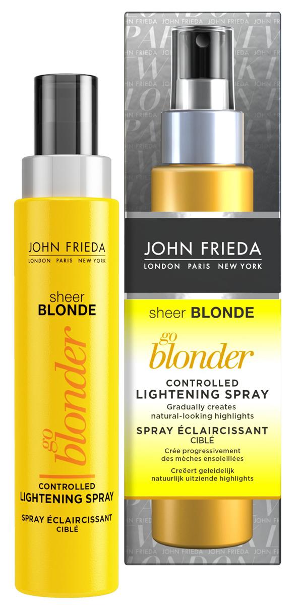 John Frieda Спрей для волос Sheer Blonde, осветляющий, 100 млjf211530Постепенно осветляет до натурального тона. Осветляет русые волосы примерно на полтора тона. Эксклюзивная формула спрея работает при тепловом воздействии фена или выпрямителя и осветляет постепенно за 3-5 применений. Применение: Для наилучшего эффекта осветления нанесите спрей после использования кондиционера на подсушенные полотенцем волосы, далее приступайте к обычной укладке. Для оптимального осветления используйте выпрямитель для волос или щипцы для завивки после сушки феном. Используйте только один раз в промежутках между мытьем головы. Наносите спрей только на чистые влажные волосы. Пользуйтесь спреем не чаще 10 раз в промежутках между окрашиваниями. Тщательно нанесите спрей на волосы, убедившись, чтобы состав распределился на поверхности прядей и в глубине. Содержит перекись водорода. Применение данной продукции приведет к стойкому осветлению ваших волос. Внимательно следуйте инструкции.
